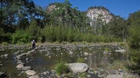 Creek crossing - Carnarvon Gorge